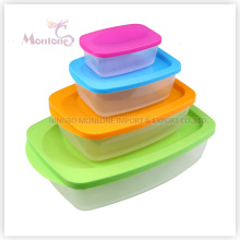 4pack Bento Lunch Box, Colorful Microwave Plastic Storage Food Container