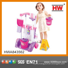 Interesting kids household play set toy cleaning machine