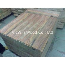 Natural Santos Rosewood Wood Flooring Veneer Sheet , Cut To Size Veneer