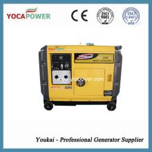 Gerador elétrico silencioso do refrigerador de ar 5kw do começo elétrico