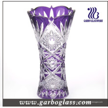Vaso de cristal colorido para la decoración (GB1508GW / P2)