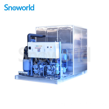 Machine à glace en plaque commerciale Snoworld