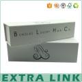 impresión del logotipo de la caja de empaquetado de la extensión del pelo blanco del diseño personalizado con el imán mate de la laminación