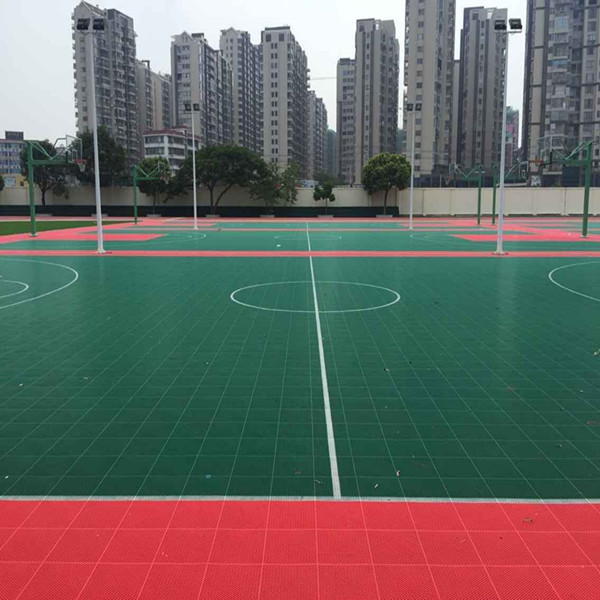 Plastic Outdoor Basketball Court Floor