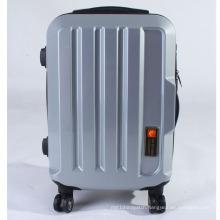 Big Logo Position Travel Bag with Spinner Wheels Lock Zipper Luggage