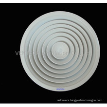 HVAC Systems Wall Mounted Aluminium Round Ceiling Diffuser