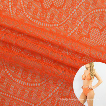 polyamide elastic tulle breathable floral jacquard fabric for sexy underwear