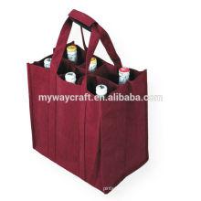 Sacola não-tecida de alta capacidade / saco de vinho Escolha de qualidade