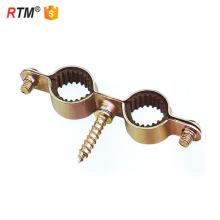 Braçadeiras de tubo duplo de aço inoxidável de polegada