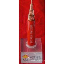 El PVC aisló el cable eléctrico 50m m2