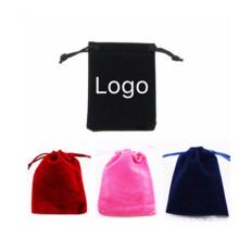 Velvet Drawstring Phone Pouch Bag