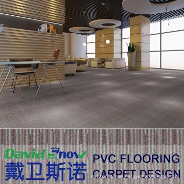 Piso antideslizante de tablones de vinilo efecto alfombra