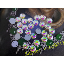 Hexagon Shape Sew on Loose Glass Stones for Clothing (DZ-1189)