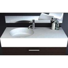 Glossy White Wall Hung Single Bowl Stone Basin (BS-8417)