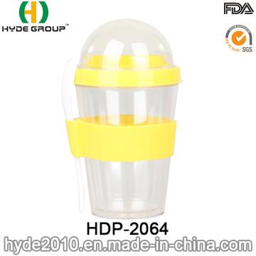 Taza de coctelera de ensalada plástico de doble pared (HDP-2064)
