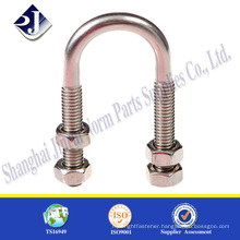 Good quality u bolt and nut High strength U bolt 304 stainless steel U bolt