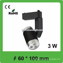 Certificat CE & ROHS AC85v-265v 3w track light led, 3 ans de garantie