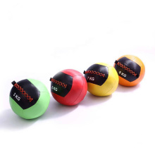 Gym Exercise  Durable PU Leather Soft Medicine Wall Hanging Ball For Weight Training