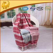 Qualitäts-Plaid-Art-Spielraum-Wurf-Großverkauf-reine Wolle-Decke für Sofa