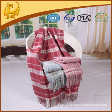 High Quality Plaid Style Travel Throw Atacado Pure Wool Blanket For Sofa