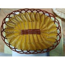 Panier de pain en plastique en mousse en rotin