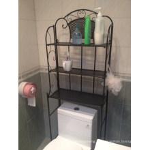 Salle de bains toilettes espace économiseur d'espace, salle de bain rack
