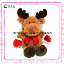 Brown Reindeer Custom Christmas Plush Toy (XDT-0184)