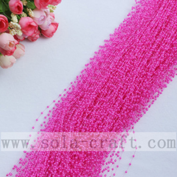 Rose-rode kleur draad parel String Beaded Garland voor Party Supplies