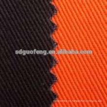 97 algodón 3 spandex 20 * 16 + 70d 128 * 60 sarga tela de spandex de algodón
