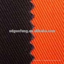 97 coton 3 spandex 20 * 16 + 70d 128 * 60 twill coton spandex tissu