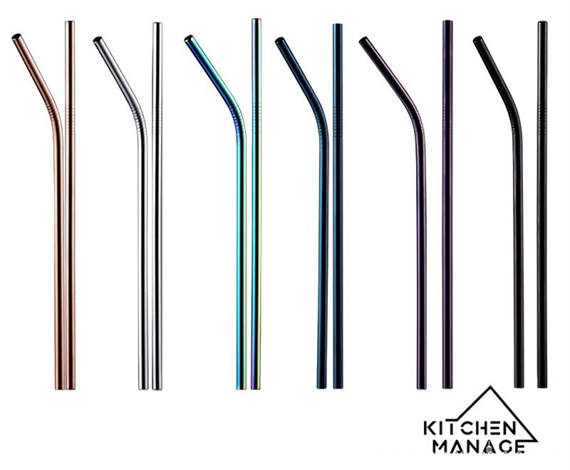Stainless Steel Straws Bent Straight