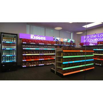 Pantalla de exhibiciones LED de estante de mercancías P2