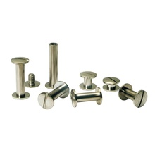 Carbon Steel Nickel Plating Book Binding Rivet Screw