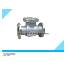 JIS Flanged End Stainless Steel Swing Valve de contrôle
