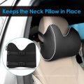 Almofada de pescoço para cadeirinha de carro, almofada de encosto de cabeça para alívio de dores no pescoço e suporte cervical com 2 alças ajustáveis e capa lavável, espuma de memória 100% pura e des ergonômico