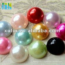 mélange lâche couleur dos plat perles de perles en vrac FP10