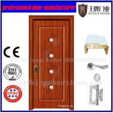 Acabado superficial acabado PVC MDF Puerta de madera