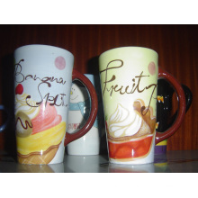 Ceramic Tall Mug Hand Painting