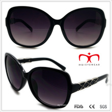 Plastic Ladies Butterfly Sunglasses with Metal Decoration (WSP508322)