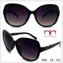 Plástico senhoras borboleta óculos de sol com decoração de metal (wsp508322)