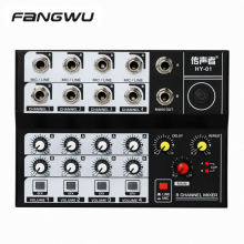 2020 New Design 8 Channel Microphone Mic Mixer For Studio and Family Ktv
