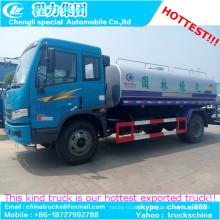 FAW 4 X 2 combustible transporte camión 180HP 10000L fábrica de venta caliente