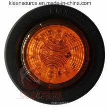 PUNTO aprobado 2 pulgadas luz de marcador lateral con ojal, 2 año garantía, resistente al agua