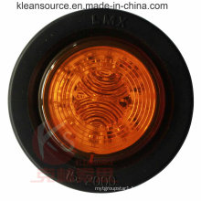 DOT Approved 2inch Side Marker Light with Grommet, 2 Year Warranty, Waterproof
