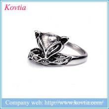 China-Lieferanten-Fox-Form-Ring-Art- und Weisemasse-Verkaufs-Edelstahl-Ringe Großhandelsschmucksachen