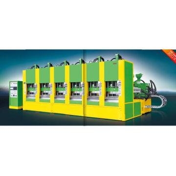 Máquina de moldeo por inyección de espuma completamente automática EVA