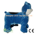 Chat bleu animaux Rider Coin Operated Machine