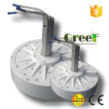 2KW CA tres fase Corless disco generador de imán permanente