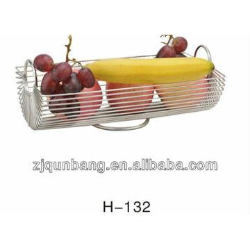 Cesta de frutas quadradas de aço inoxidável