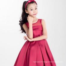 Vêtements de réveillon de Noël rouge noël modèles enfants vêtements pour nouvel an une pièce grand rouge arc robes en gros